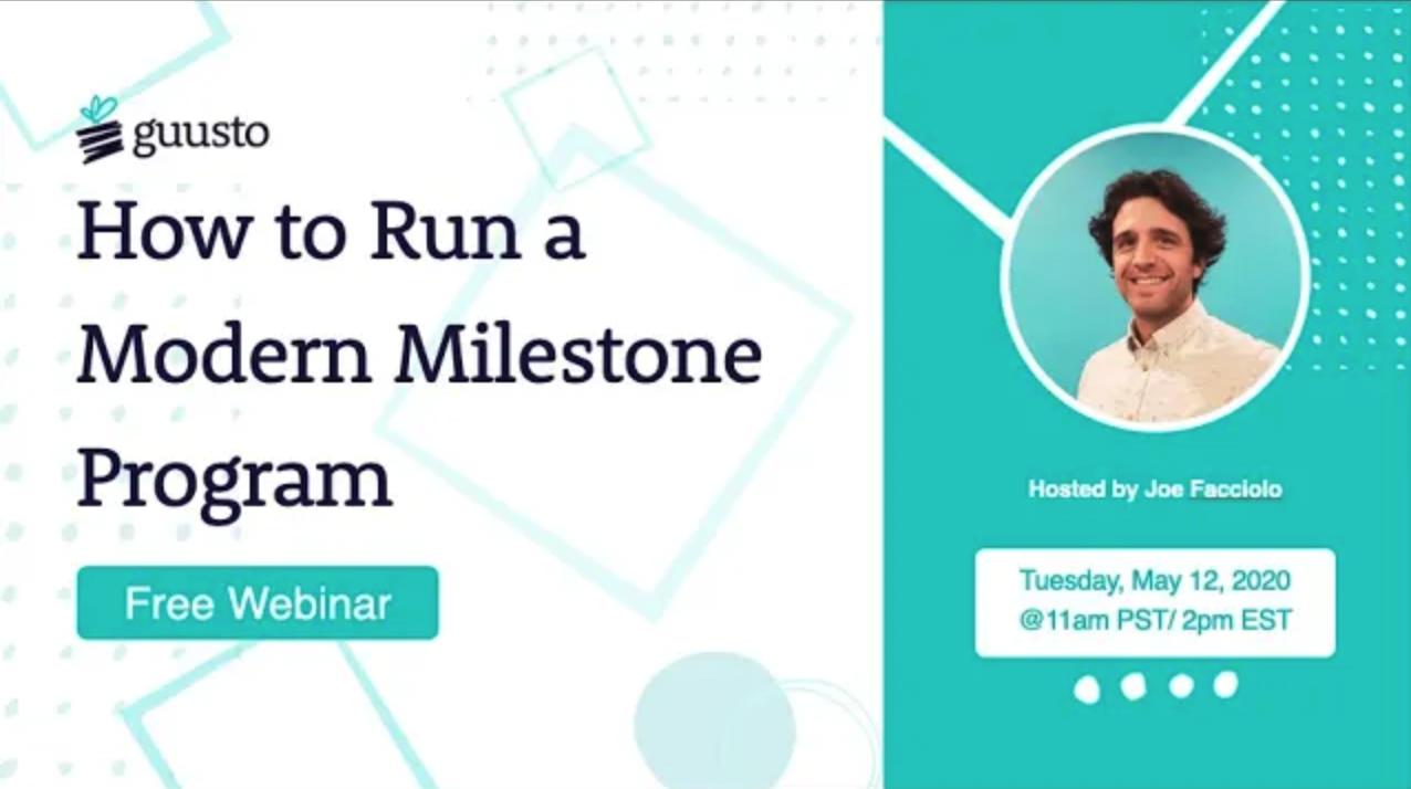 How to Run a Modern Milestone Program